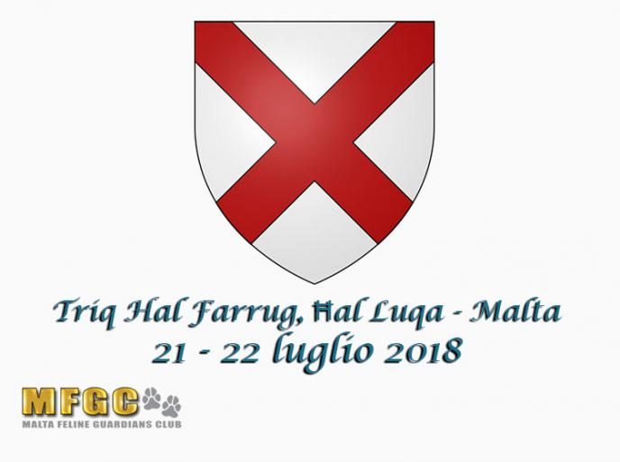 21 e 22 luglio 2018 76th & 77th International Cat Show MGFC WCF Malta